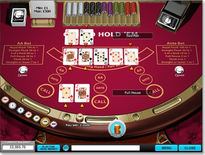 Play Casino Hold'em Online at Casino.com Australia