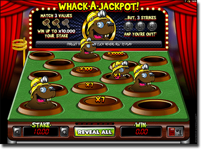 Whack-a-Mole Instant Scratchie for Real Money