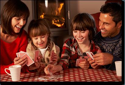 Family card games improve social skills