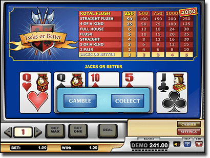 Video Poker at Thrills Casino