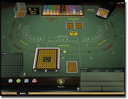 Microgaming Baccarat Gold at Thrills Casino