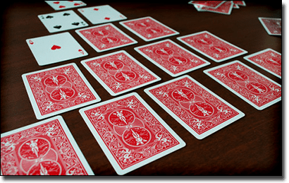 Pyramid drinking card game