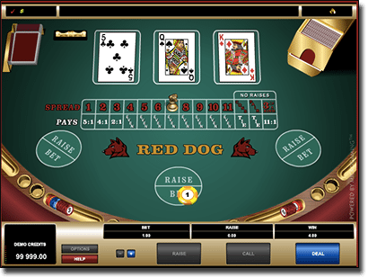 Red Dog card game by Microgaming