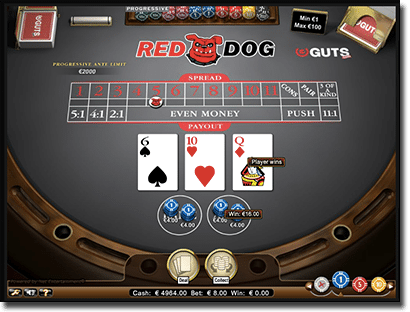 Play Red Dog at online casinos