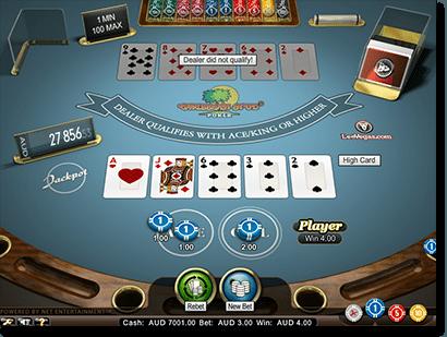 Carribean Stud poker real money online card game