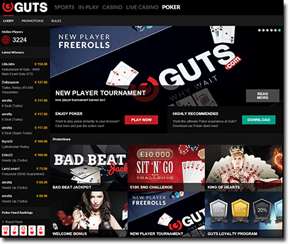 Guts.com new poker site