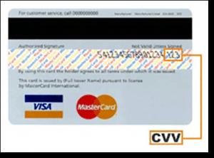 MasterCard CVV number security for online casinos