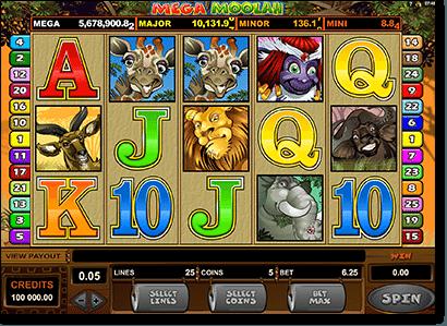 Mega Moolah progressive jackpot online pokies game