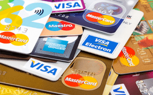 Credit card MasterCard and Visa casinos