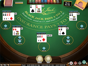 Hi-stakes blackjack play