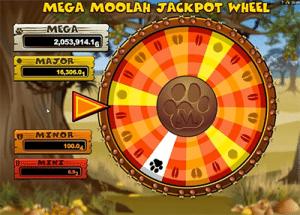 Mega Moolah progressive jackpot wheel