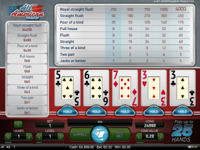 Play Net Ent video poker