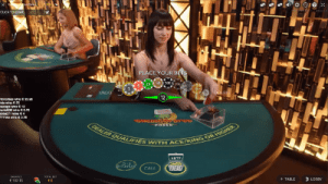 Live Dealer Carribean Stud by Evolution Gaming software