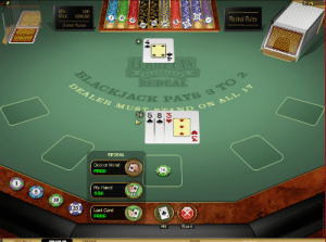 Microgaming Blackjack Redeal online
